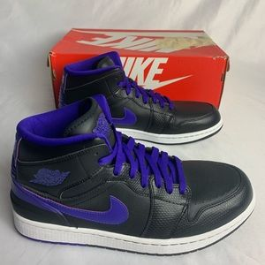 Nike Air Jordan 1 Retro '86 US Men's Purple Black